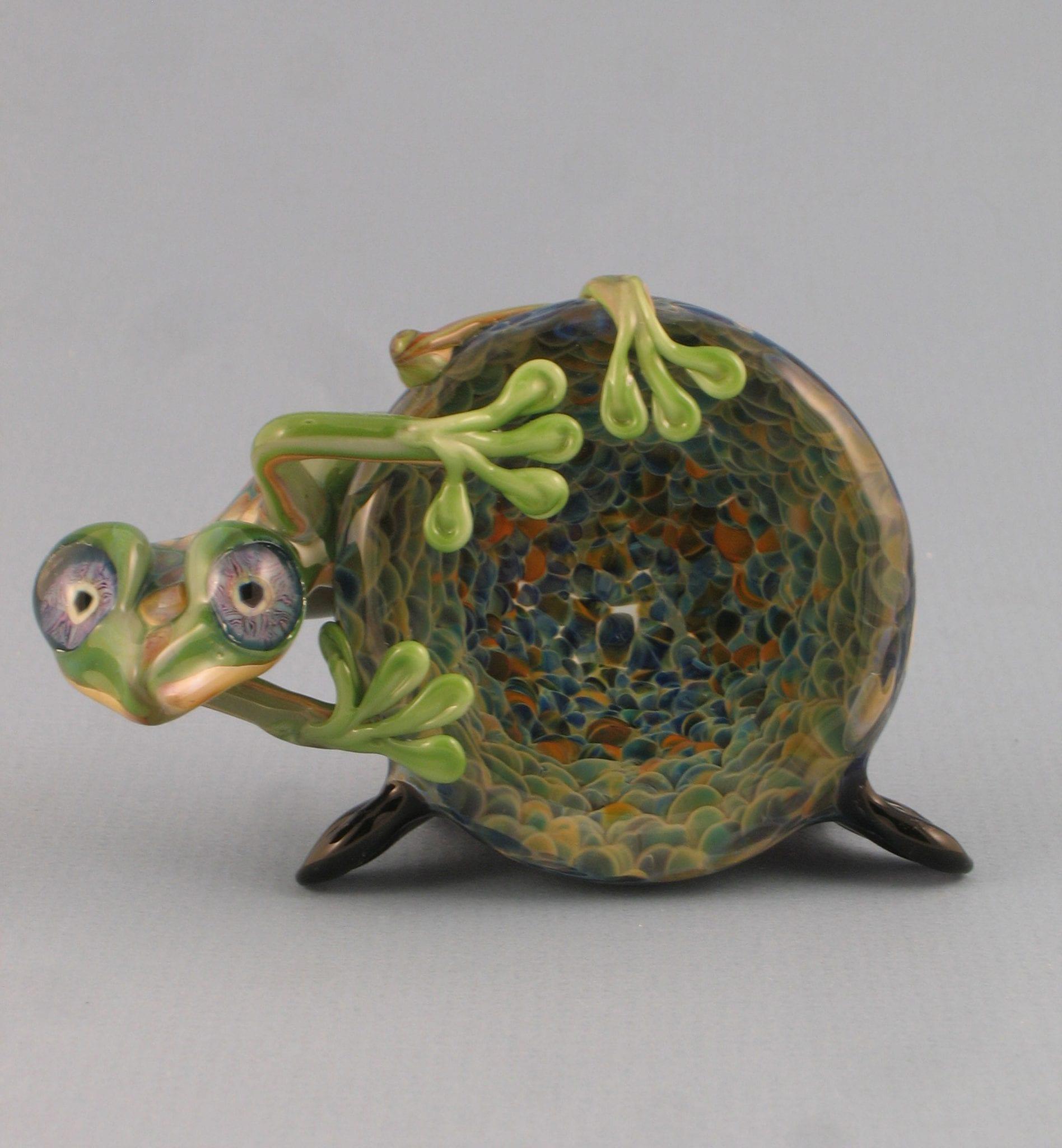 green-frog-geode